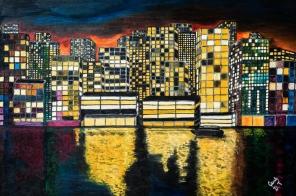 Miasto-nocą-olej-na-płótnie-92-x-65-2013r