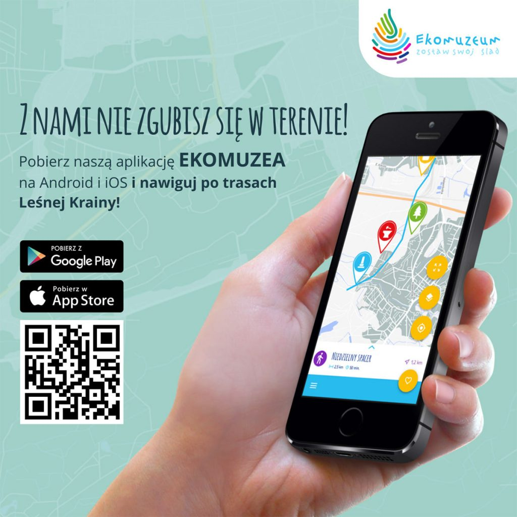 grafika promująca aplikację mobilną ekomuzea