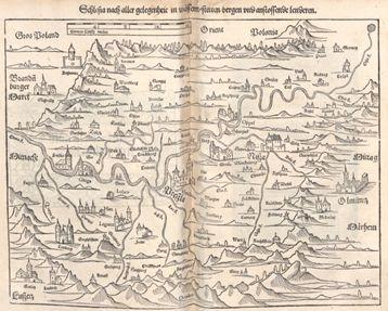 mapa Śląska z 1544 r.