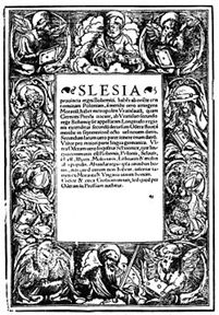 Strona tytułowa mapy Śląska